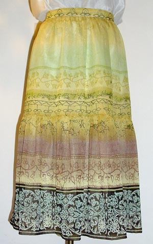 Chiffon-Rock, gefttert; chiffon skirt with lining