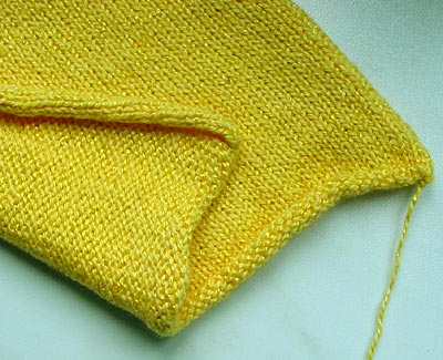 glatt rechts rollt sich — plain knit curls
