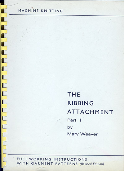 Mary Weaver, The Ribbing Attachment Part 1