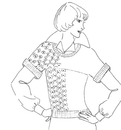Pullover-Beispiel, example of sweater