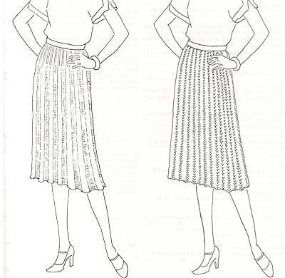 R�cke im Rippenmuster, ribbed skirts
